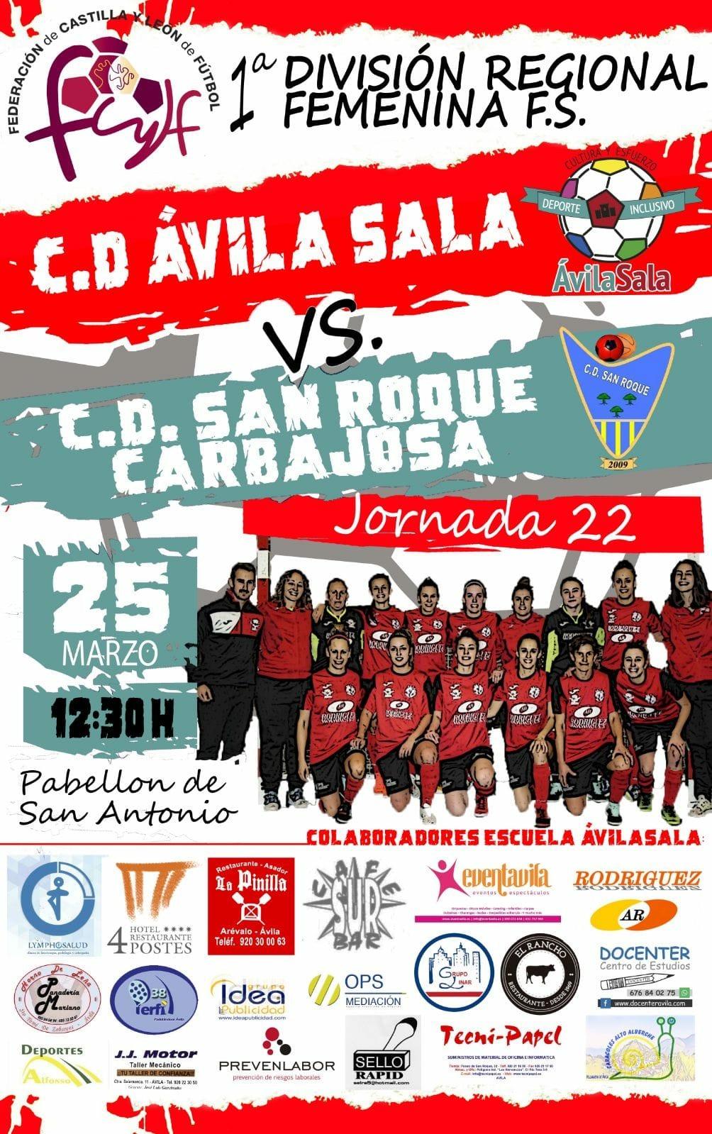 C.D.AvilaSala vs C.D.San Roque Carbajosa