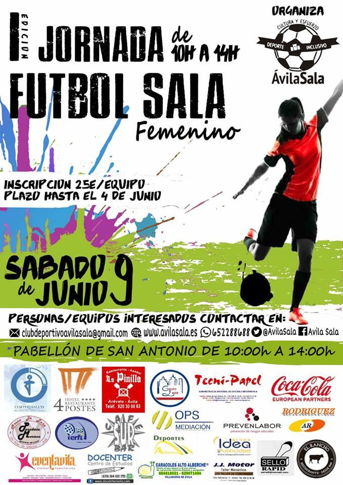 Sábado 9 de junio, I Jornada de Fútbol Sala Femenino