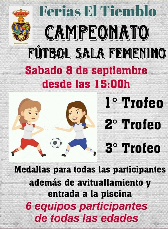 Campeonato fútbol sala femenino El Tiemblo